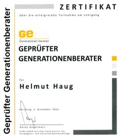 Generationenberater Zertifikat